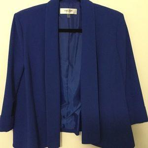 Jones Studio Blazer 3/4 Sleeve Royal Blue Size 10